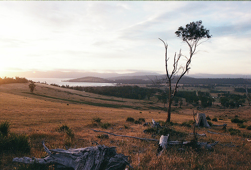 bruny island sunset