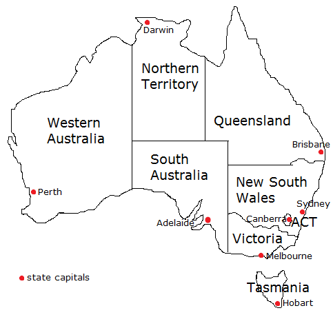Map Of Australia And Capital Cities.Map Of Australia With States And Capitals 10 Maps Update 619336