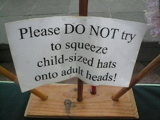Do not squeeze hats