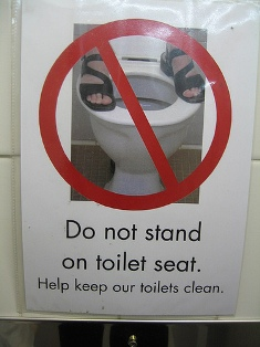 Do not Stand on Toilet