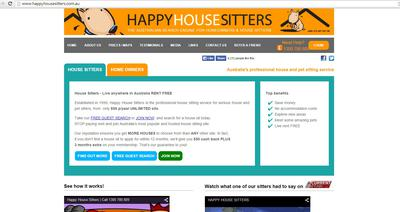Happy House Sitters Website - Overpriced